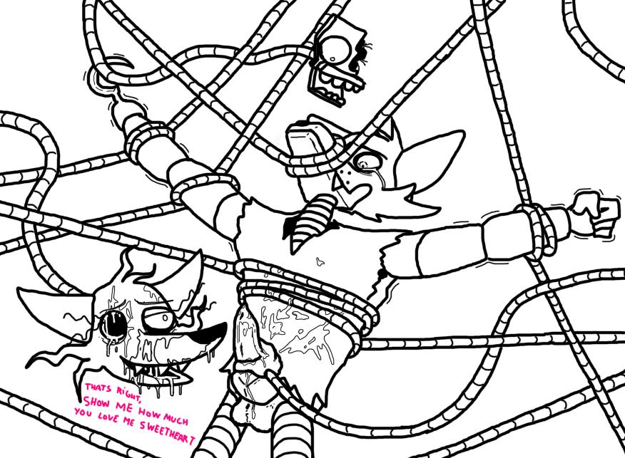 mangle foxy fnaf comic x Lil cactus legend of mana