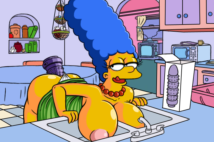 scene simpsons marge deleted large Horse cock cumming in pussy