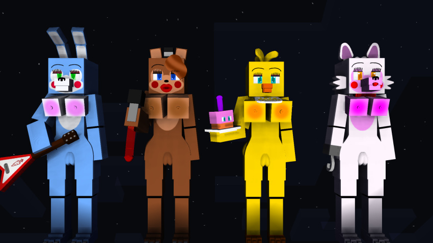 chica toy bonnie toy y Donkey kong and candy kong