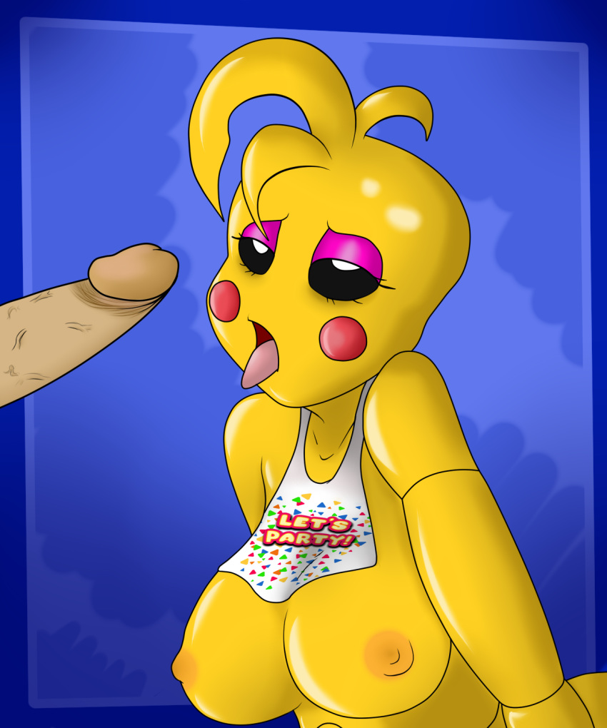 fnaf full body toy chica Hitomi-chan is shy with strangers hentai